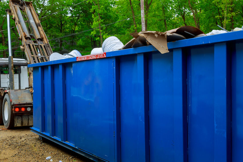 Blue Recycling Waste Dumpster